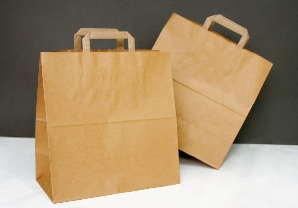 Willow Check-Out Handle Paper Bags